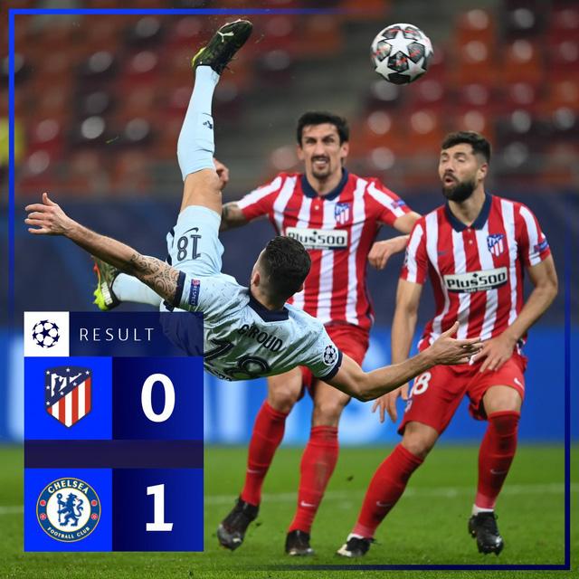 Kết quả vòng 1/8 Champions League hôm nay: Atletico Madrid 0-1 Chelsea, Lazio 1-4 Bayern Munich - Ảnh 1.