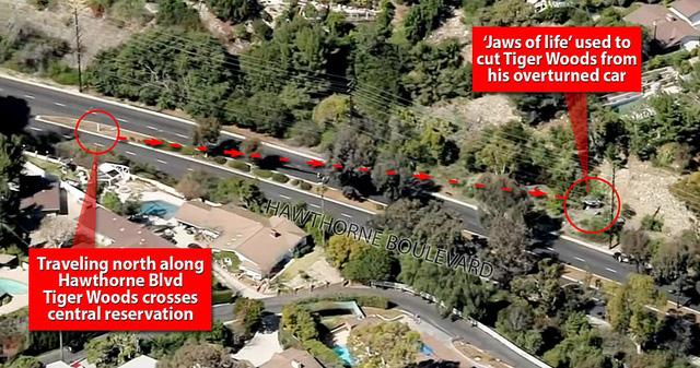 SỐC: Tiger Woods nhập viện sau tai nạn xe nghiêm trọng - Ảnh 2.