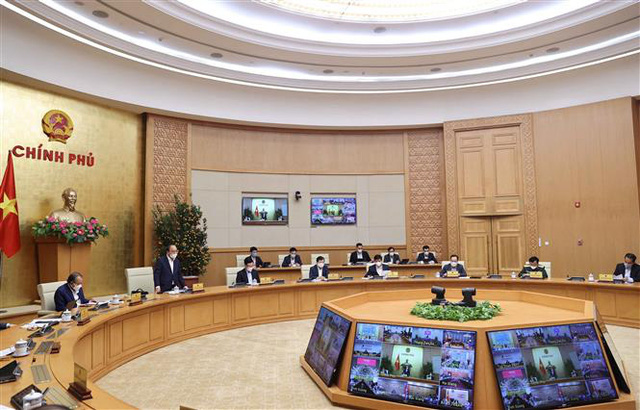 Thủ tướng Nguyễn Xuân Phúc chủ trì họp Thường trực Chính phủ chốt một số vấn đề về phòng chống COVID-19 - Ảnh 3.