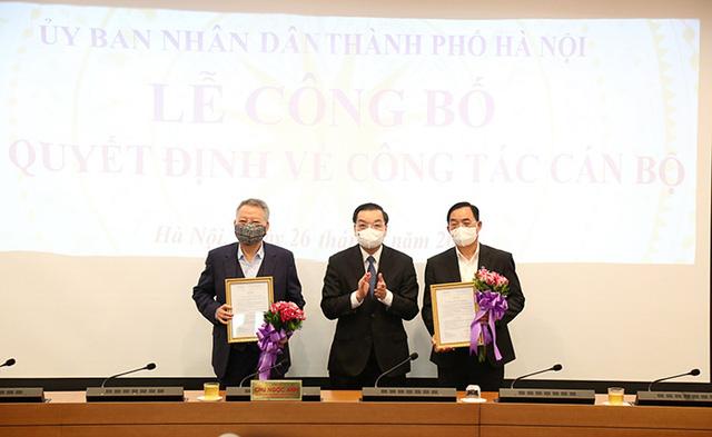 UBND TP Hà Nội công bố các quyết định về công tác cán bộ - Ảnh 1.