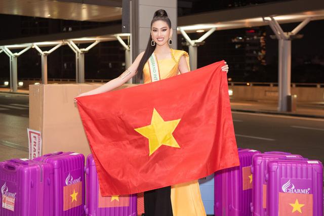 Á hậu Ngọc Thảo chính thức lên đường dự thi Miss Grand International - Ảnh 2.