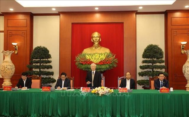 Bộ Chính trị gặp mặt thân mật các đồng chí nguyên Ủy viên Bộ Chính trị, Ban Bí thư, Trung ương khóa XII - Ảnh 1.
