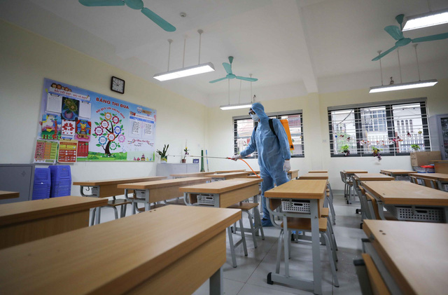 Trường học ở Hà Nội chuẩn bị đón học sinh trở lại trong trạng thái bình thường mới - Ảnh 5.