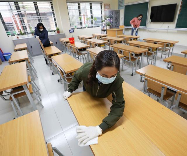 Trường học ở Hà Nội chuẩn bị đón học sinh trở lại trong trạng thái bình thường mới - Ảnh 4.