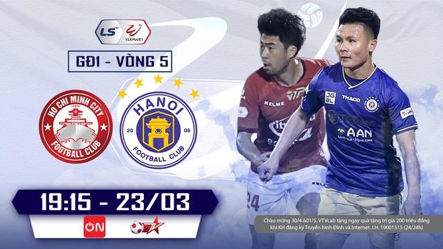 TP Hồ Chí Minh và Hà Nội FC: Tâm điểm vòng 5 V-League - Ảnh 1.