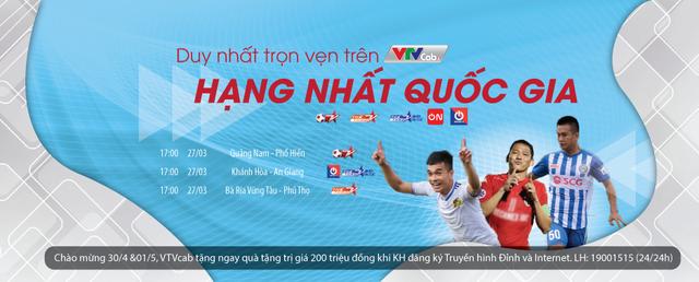 Vòng 6 V-League; Vòng 2 Hạng nhất Quốc gia tiếp tục sôi động trên VTVcab - Ảnh 2.