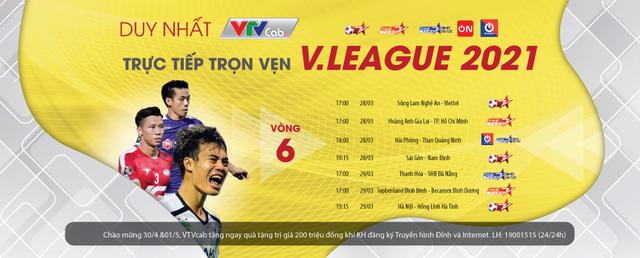 Vòng 6 V-League; Vòng 2 Hạng nhất Quốc gia tiếp tục sôi động trên VTVcab - Ảnh 1.