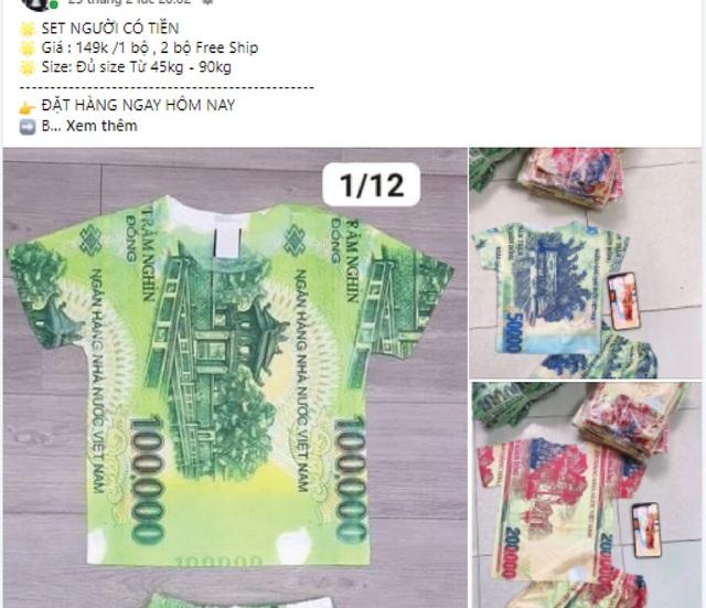 Bán quần áo in hình tiền Việt Nam có thể bị phạt tới 100 triệu đồng - Ảnh 1.