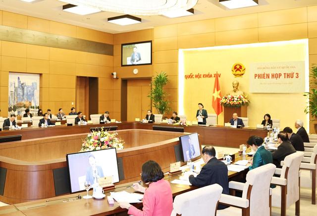 Chủ tịch Quốc hội Nguyễn Thị Kim Ngân chủ trì Phiên họp thứ 3 Hội đồng Bầu cử Quốc gia - Ảnh 1.