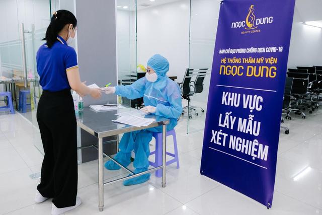 100% nhân viên hệ thống TMV Ngọc Dung âm tính với SARS-CoV-2 trước ngày mở cửa - Ảnh 1.