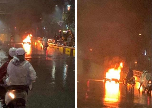Triệu tập chủ xe Volvo đâm xe máy bốc cháy rồi bỏ chạy - Ảnh 1.