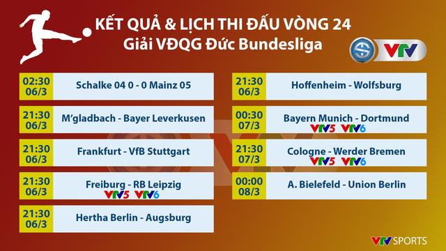Lịch thi đấu và trực tiếp vòng 24 Bundesliga hôm nay: Tâm điểm Siêu kinh điển nước Đức, Bayern Munich – Dortmund - Ảnh 1.