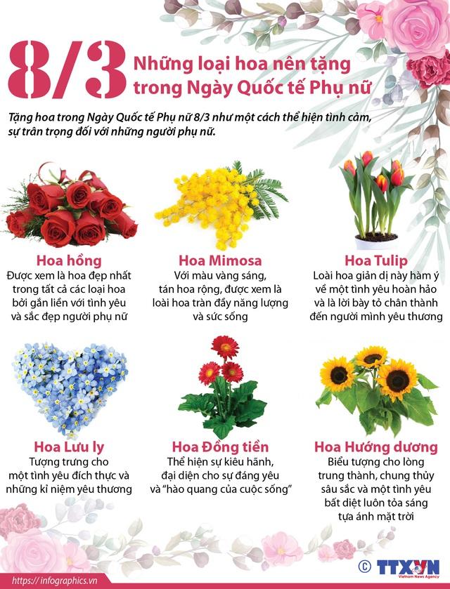 Những loại hoa nên tặng trong Ngày Quốc tế Phụ nữ 8/3 - Ảnh 1.