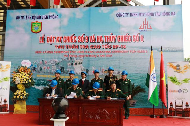 Hạ thủy 2 tàu tuần tra cao tốc thuộc gói tín dụng quốc phòng 100 triệu USD của Ấn Độ - Ảnh 2.