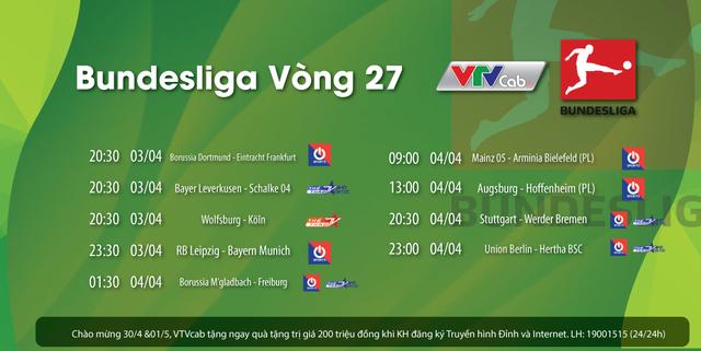Chung kết sớm Bundesliga trực tiếp trên ON Sports/VTVcab - Ảnh 2.