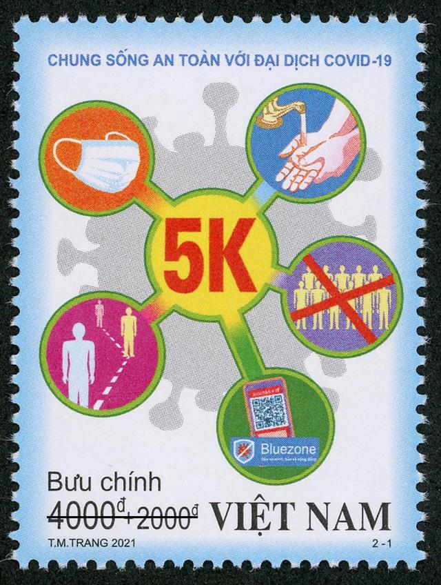 """Phát hành bộ tem """"Chung sống an toàn với đại dịch COVID-19"""" - Ảnh 1."""