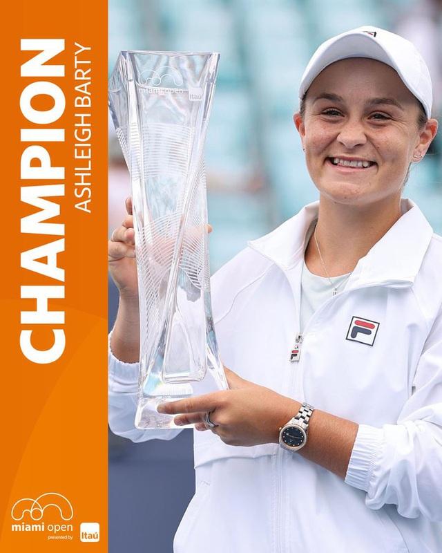 Thắng dễ Bianca Andreescu, Ashleigh Barty vô địch đơn nữ Miami mở rộng - Ảnh 3.