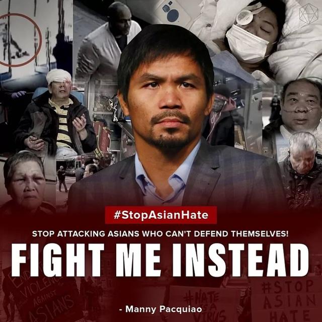 Manny Pacquiao lên tiếng chống phân biệt chủng tộc - Ảnh 1.