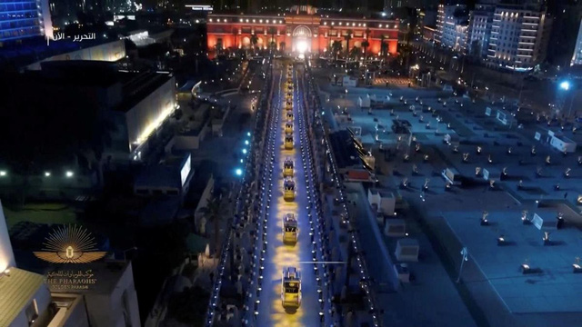 22 xác ướp được diễu hànhtrên đường phố Cairo (Ai Cập) - Ảnh 4.