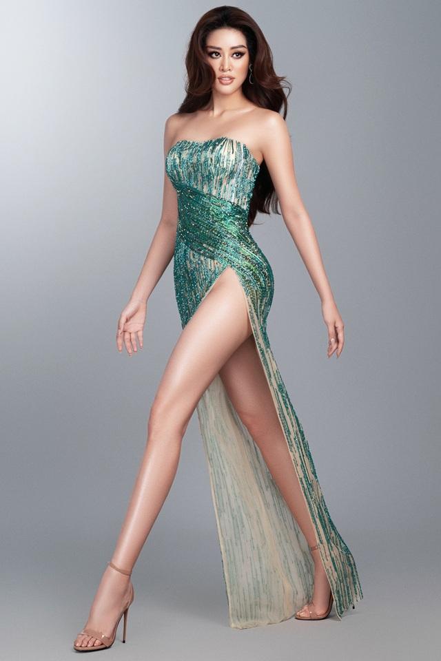 Khánh Vân hé lộ bộ ảnh dạ hội trước thềm Bán kết Miss Universe - Ảnh 5.