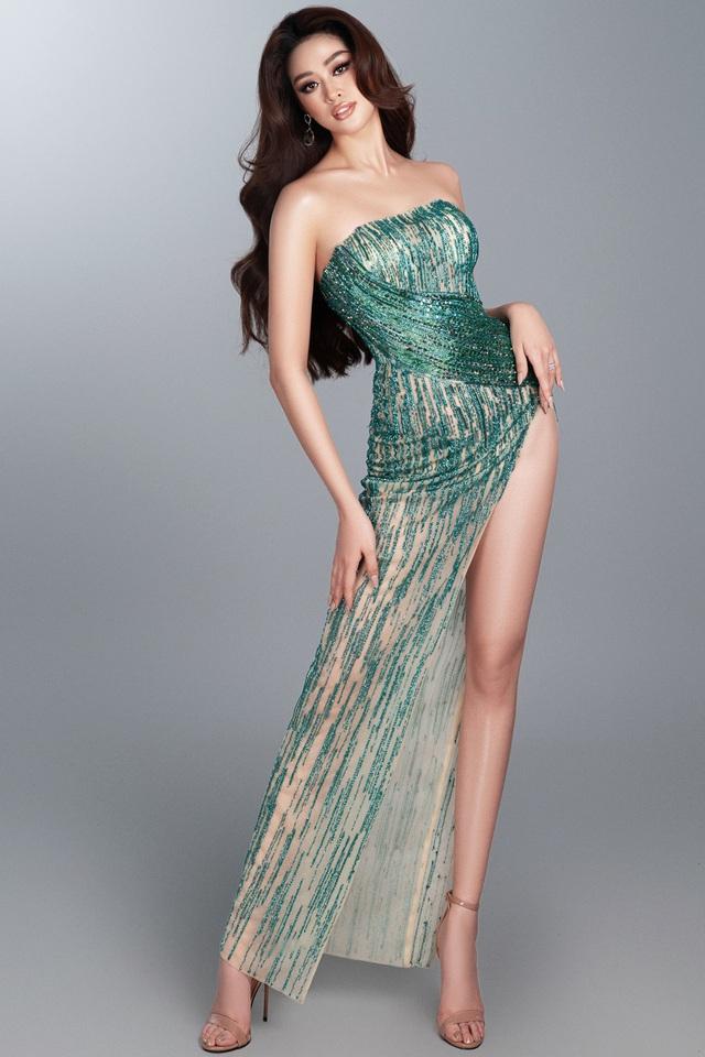 Khánh Vân hé lộ bộ ảnh dạ hội trước thềm Bán kết Miss Universe - Ảnh 4.