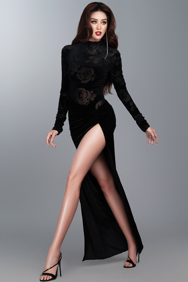 Khánh Vân hé lộ bộ ảnh dạ hội trước thềm Bán kết Miss Universe - Ảnh 7.