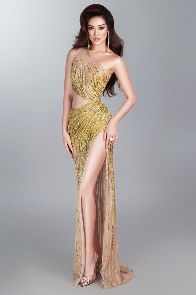 Khánh Vân hé lộ bộ ảnh dạ hội trước thềm Bán kết Miss Universe - Ảnh 2.