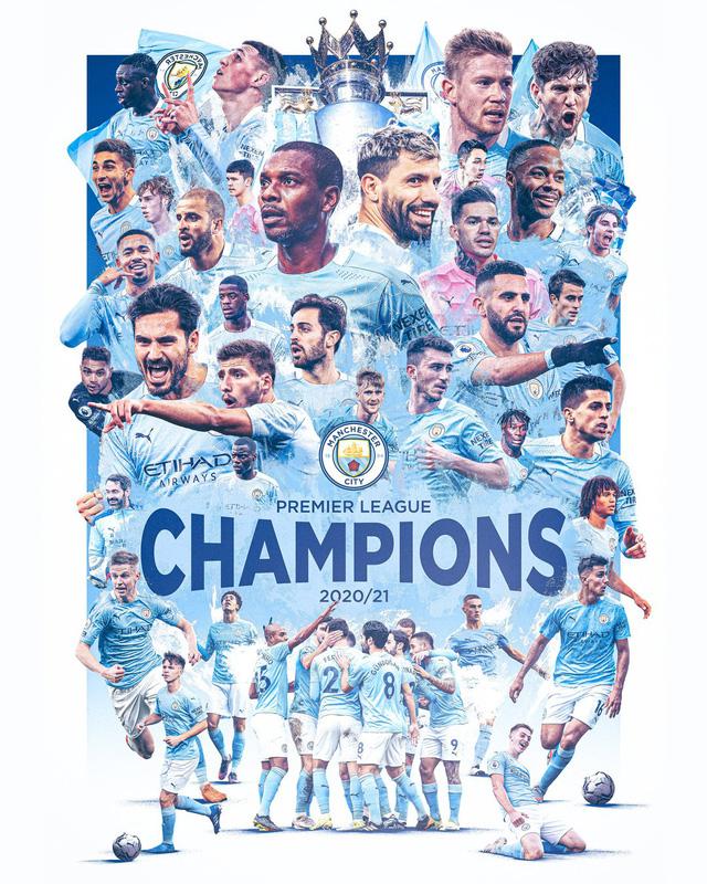 Man City vô địch sớm Ngoại hạng Anh: Aguero xác lập kỷ lục trong lịch sử nửa xanh thành Manchester - Ảnh 1.