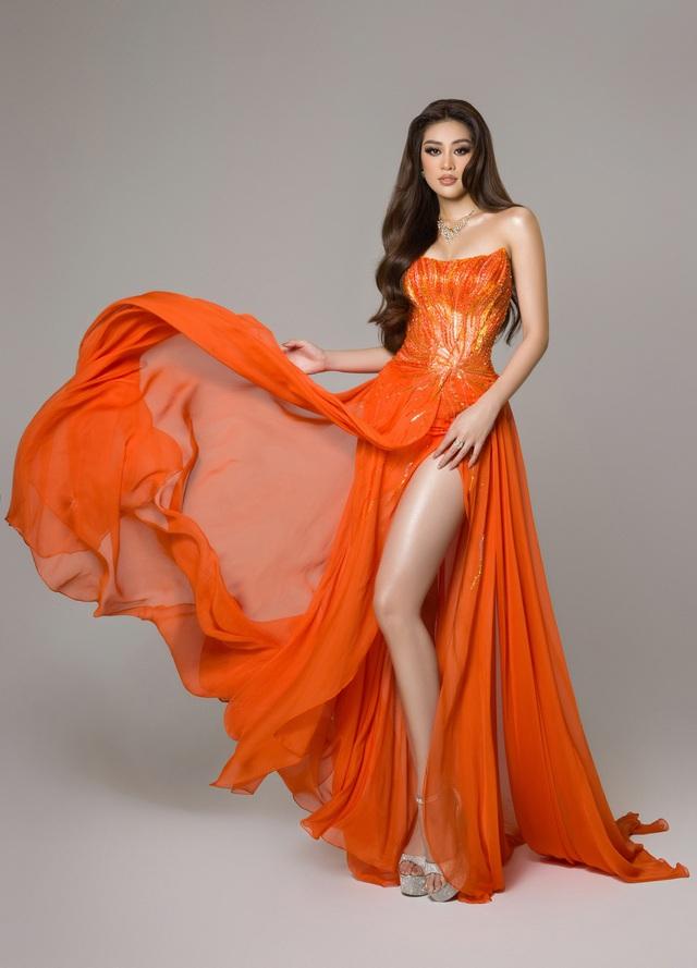 Bán kết Miss Universe: Khánh Vân trình diễn thần thái trong trang phục dạ hội - Ảnh 4.