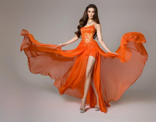 Bán kết Miss Universe: Khánh Vân trình diễn thần thái trong trang phục dạ hội - Ảnh 5.
