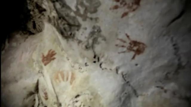 Phát hiện các dấu tay hơn 1.200 năm tuổi trong hang động tại Mexico - ảnh 1