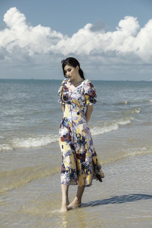 Á hậu Ngọc Thảo hóa nàng thơ trên bãi biển - ảnh 9