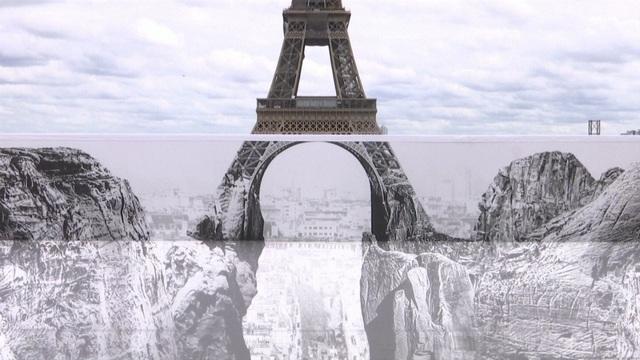 Nghệ thuật sắp đặt 3D chào mừng Tháp Eiffel sắp đón khách trở lại - ảnh 1