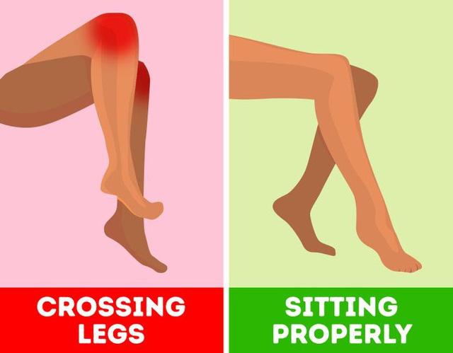 Thói quen ngồi vắt chéo chân có thể gây tê liệt thần kinh - ảnh 4