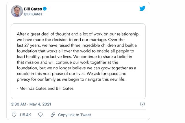 Bill Gates - Melinda - Một trong những vụ ly hôn đắt nhất lịch sử - Ảnh 1.