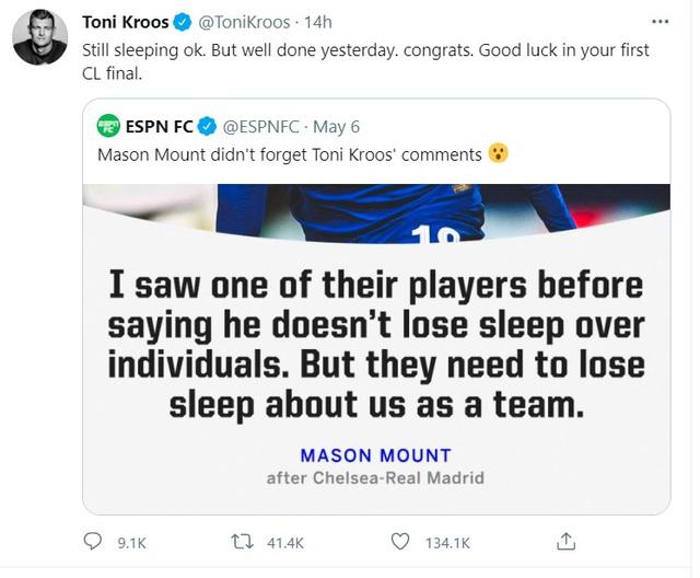 Toni Kroos và Mason Mount khẩu chiến qua mạng xã hội - Ảnh 1.