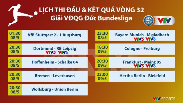 Lịch thi đấu và trực tiếp vòng 32 Bundesliga: Tâm điểm Dortmund – Leipzig, Bayern Munich – M'gladbach - Ảnh 1.