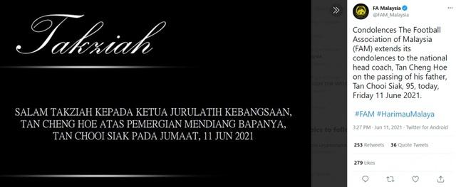 Cha của HLV ĐT Malaysia qua đời ngay trước thềm trận đấu với ĐT Việt Nam |  VTV.VN