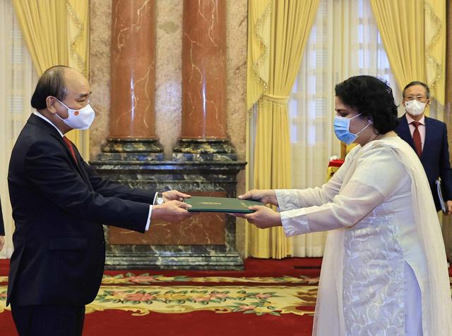 Chủ tịch nước Nguyễn Xuân Phúc tiếp các Đại sứ trình Quốc thư - Ảnh 2.