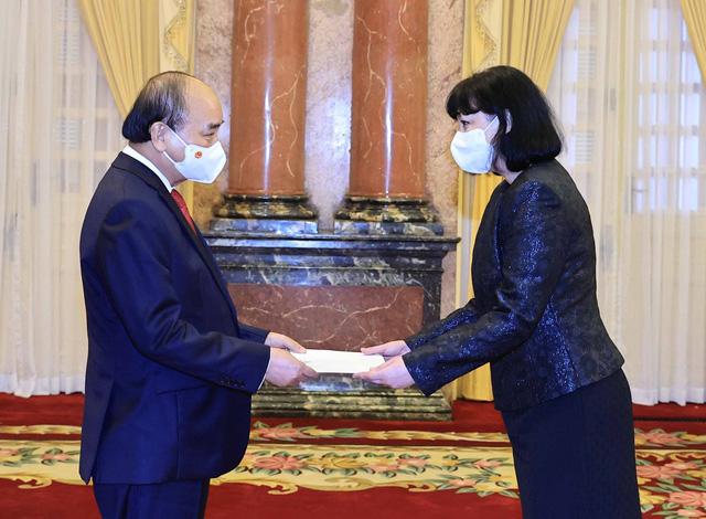 Chủ tịch nước Nguyễn Xuân Phúc tiếp các Đại sứ trình Quốc thư - Ảnh 3.