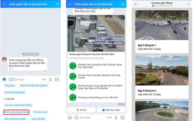 Bình Định thử nghiệm hệ thống giám sát giao thông qua Zalo - ảnh 3