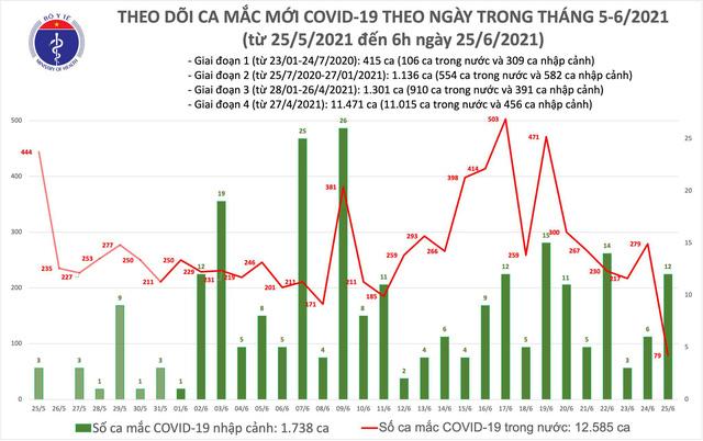Sáng 25/6: Thêm 91 ca mắc COVID-19, TP Hồ Chí Minh tiếp tục nhiều nhất 57 ca - Ảnh 1.