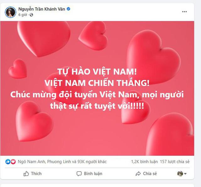 Sao Việt tưng bừng chúc mừng đội tuyển Việt Nam chiến thắng - Ảnh 4.