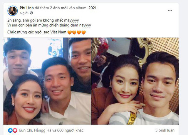 Sao Việt tưng bừng chúc mừng đội tuyển Việt Nam chiến thắng - Ảnh 5.