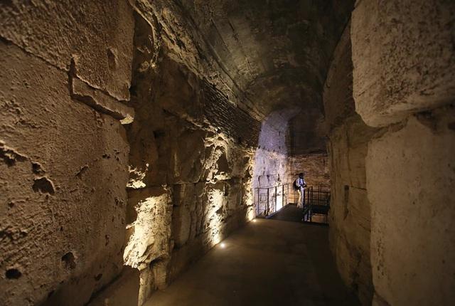 Hệ thống đường hầm bí mật của Đấu trường La mã lần đầu tiên ra mắt công chúng - ảnh 2