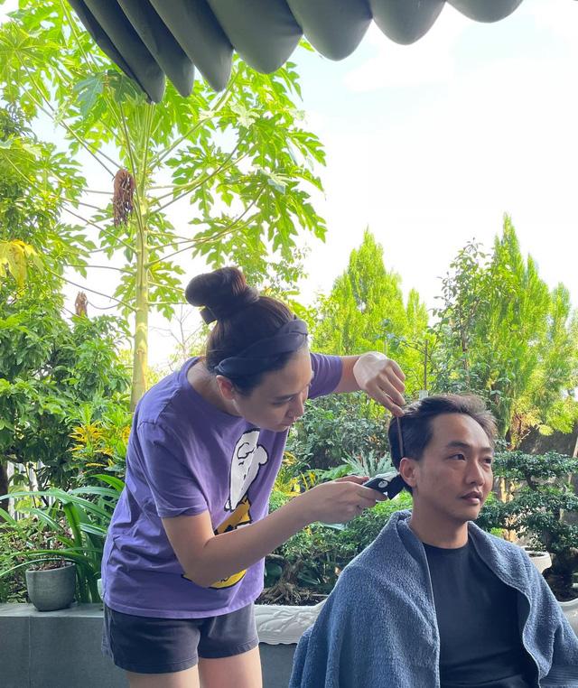 Sao Việt với những kiểu tóc tại gia trong mùa dịch - Ảnh 6.