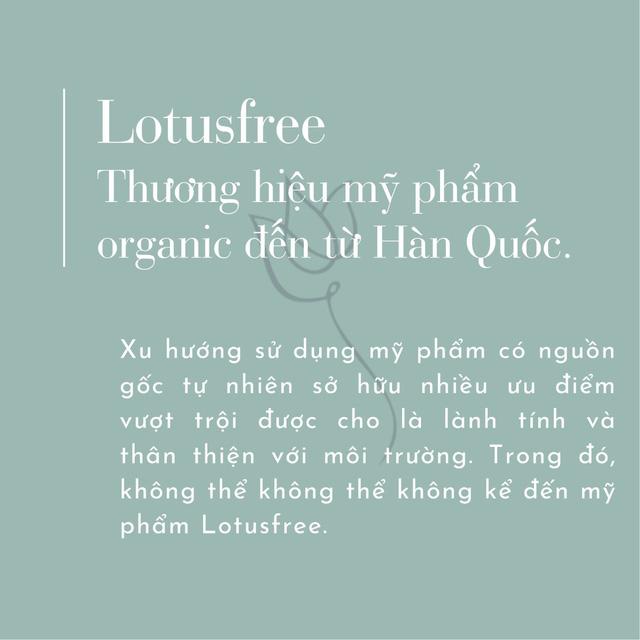Lotusfree - Thương hiệu mỹ phẩm organic đến từ Hàn Quốc - Ảnh 1.