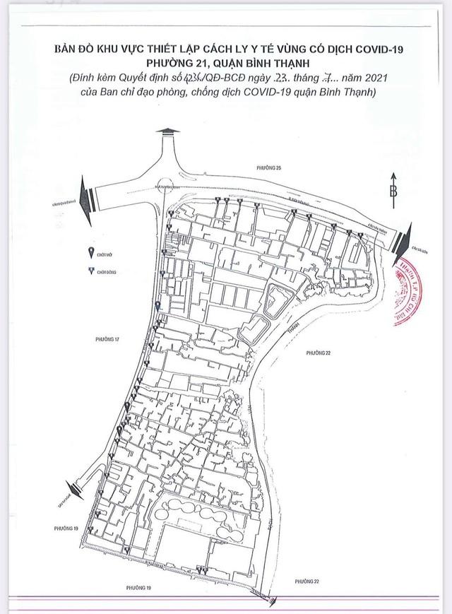 TP Hồ Chí Minh phong tỏa phường 21, quận Bình Thạnh từ 0h ngày 24/7 - ảnh 1