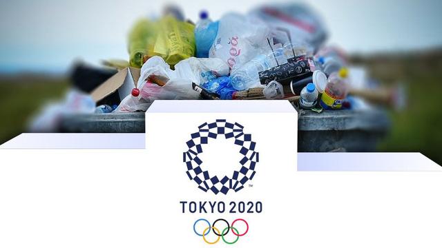 Bục trao huy chương của Olympic Tokyo 2020 được làm từ rác thải nhựa - Ảnh 2.