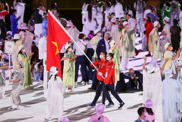 Hình ảnh Đoàn thể thao Việt Nam diễu hành ở lễ khai mạc Olympic Tokyo 2020 - Ảnh 1.
